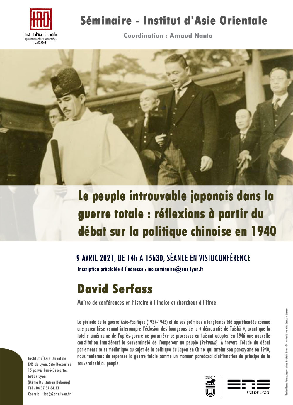 Séminaire de l'IAO : David Serfass