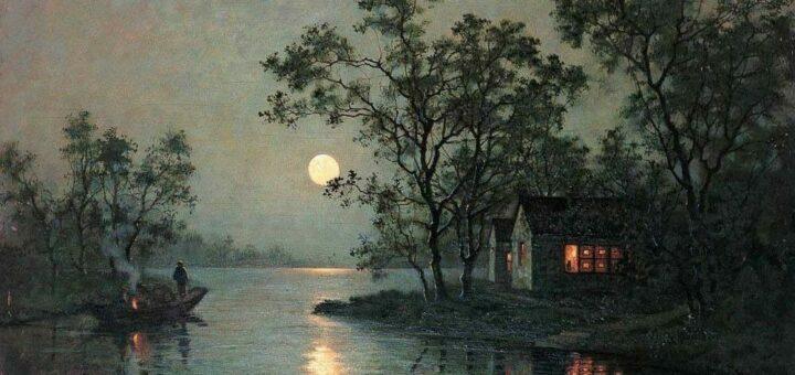 Yan Wenliang (1893-1990), Rivière au clair de lune